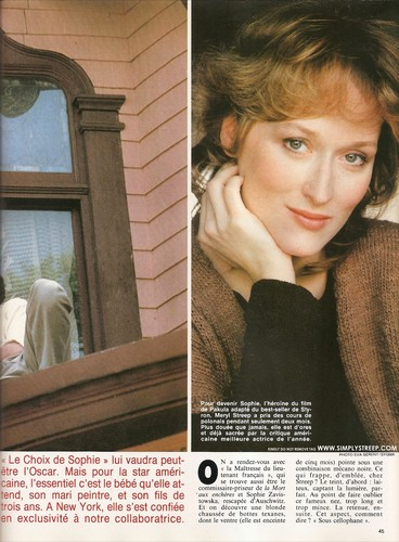 Madame Figaro [April 1983] - meryl-streep Photo
