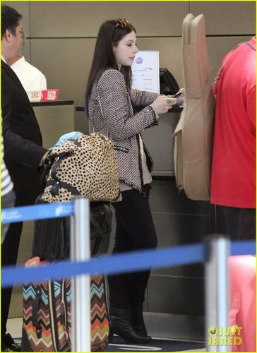 Michelle Trachtenberg makes a stylish entrance at LAX Airport on Friday (June 15)