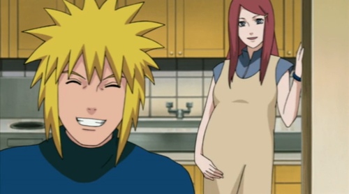 Minato and Kushina pregnaut with Naruto