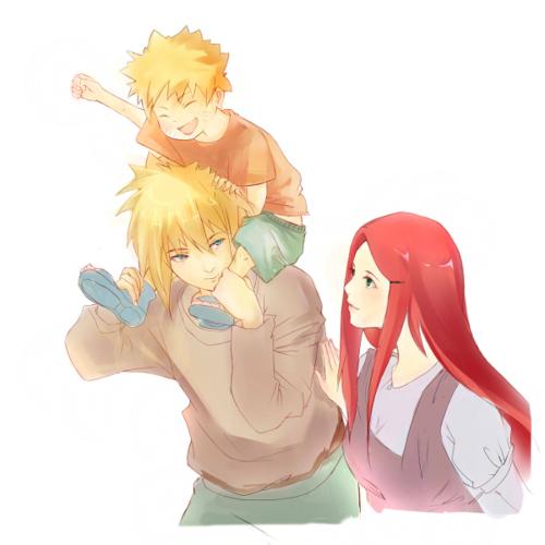 Naruto karatasi la kupamba ukuta entitled Minato x Kushina