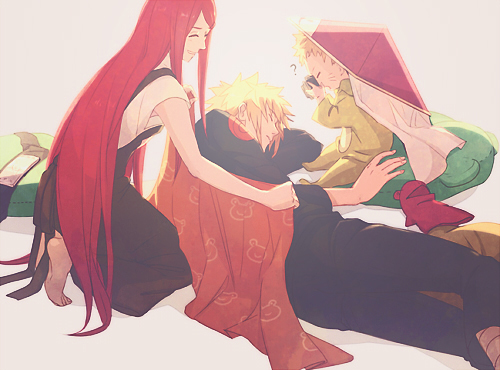 Naruto wallpaper possibly containing a surcoat entitled Minato x Kushina