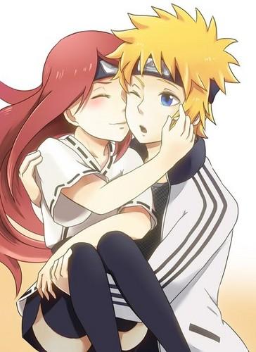 Naruto karatasi la kupamba ukuta with anime entitled Minato x Kushina