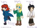 More OCs... Kara, Barnard & Akimitsu