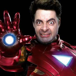 Mr. Bean As Iron Man