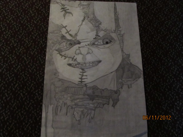 Realistic Coloring Of Chucky: Drawing Photo (31133891)