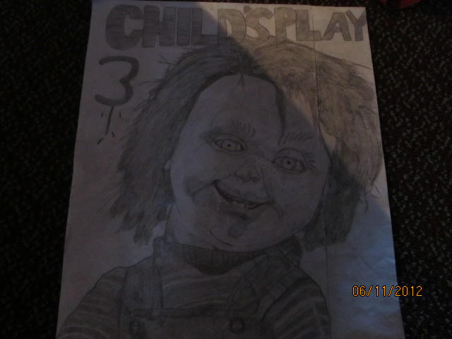 Realistic Coloring Of Chucky: Drawing Photo (31133894)
