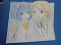 My drawing of Haruna and Akane ^^