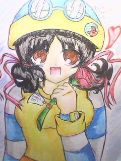 Boboiboy achtergrond with anime titled My drawing of Ying Adult in anime