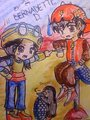 My shabiki art of Boboi Boy, Ying and Popo