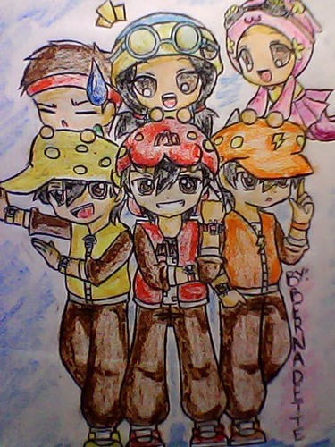 My 粉丝 art of Boboi Boy and his Friends... again...