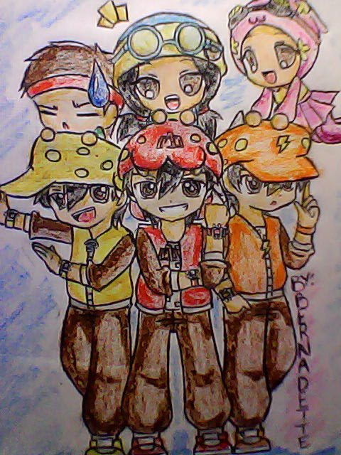 My fan art of Boboi Boy and his Friends... again...