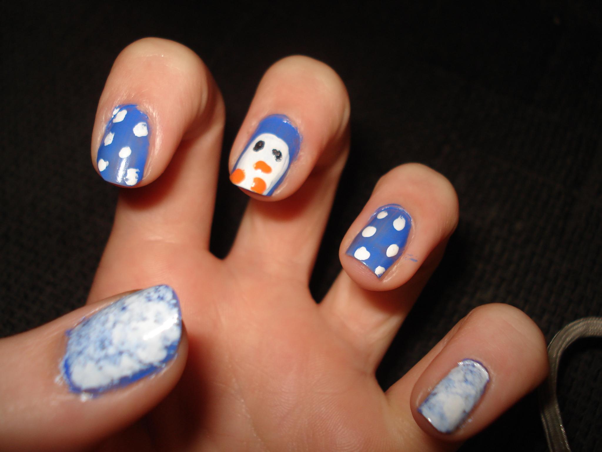 Nails - Penguin Nail Art Photo (31178764) - Fanpop