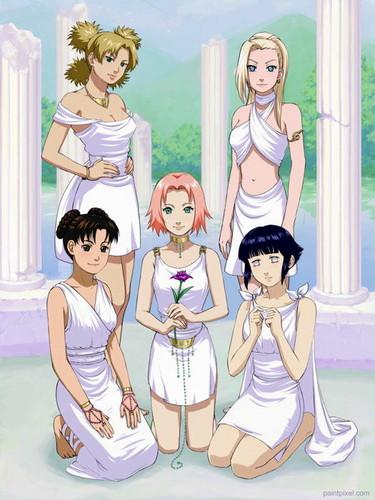 Naruto Shippuuden fond d'écran containing animé titled Naruto Girls