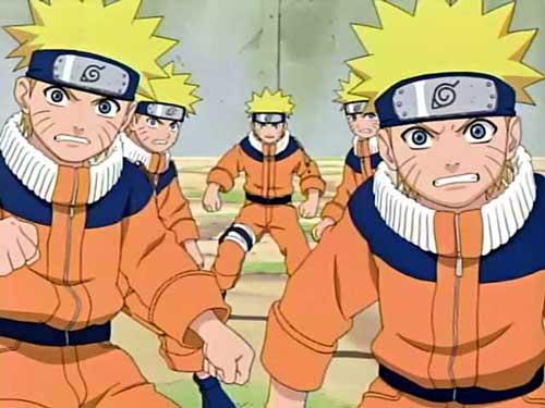 Naruto Shadow Clone Jutsu !