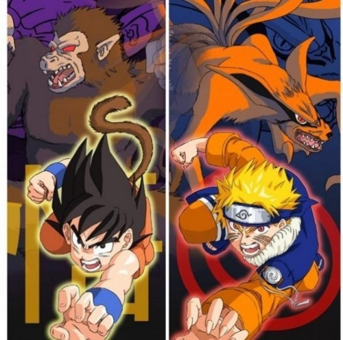 zekrom676 imagens naruto and goku wallpaper and background