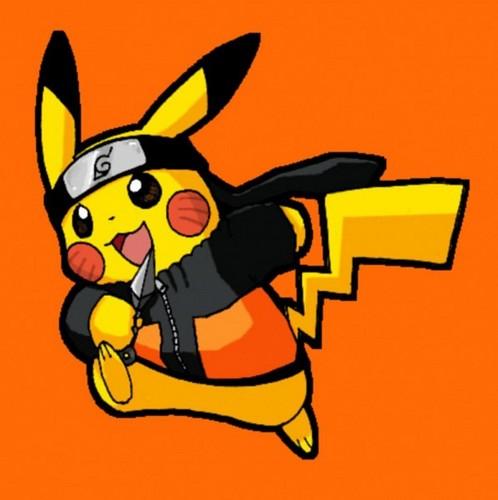 नारूटो as Pikachu/Pikachu as नारूटो