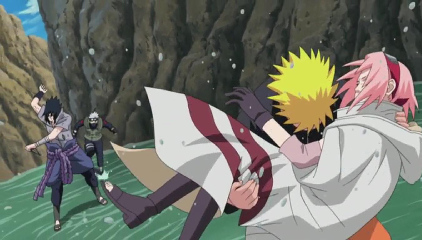 Naruto save Sakura, Team 7