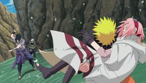 Naruto save Sakura, Team 7