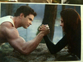 New Breaking Dawn Part 2 still: Bella and Emmett arm wrestling! - twilight-series photo