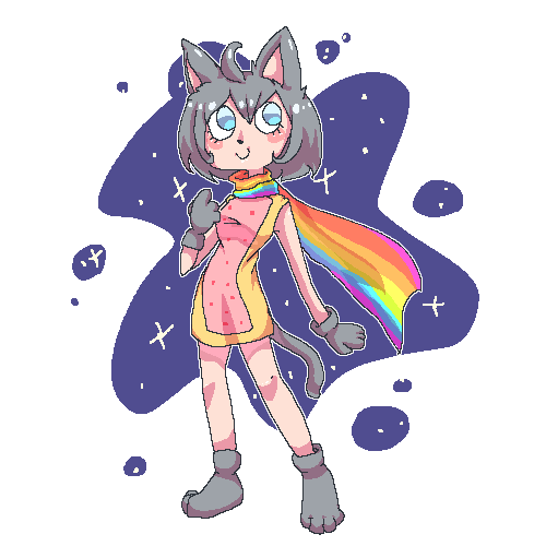 Nyan Cat wallpaper containing anime called Nyan Cat girl