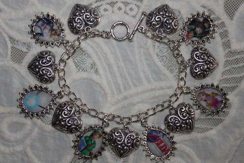OCARINA OF TIME Main Characters charm bracelet - the-legend-of-zelda Fan Art