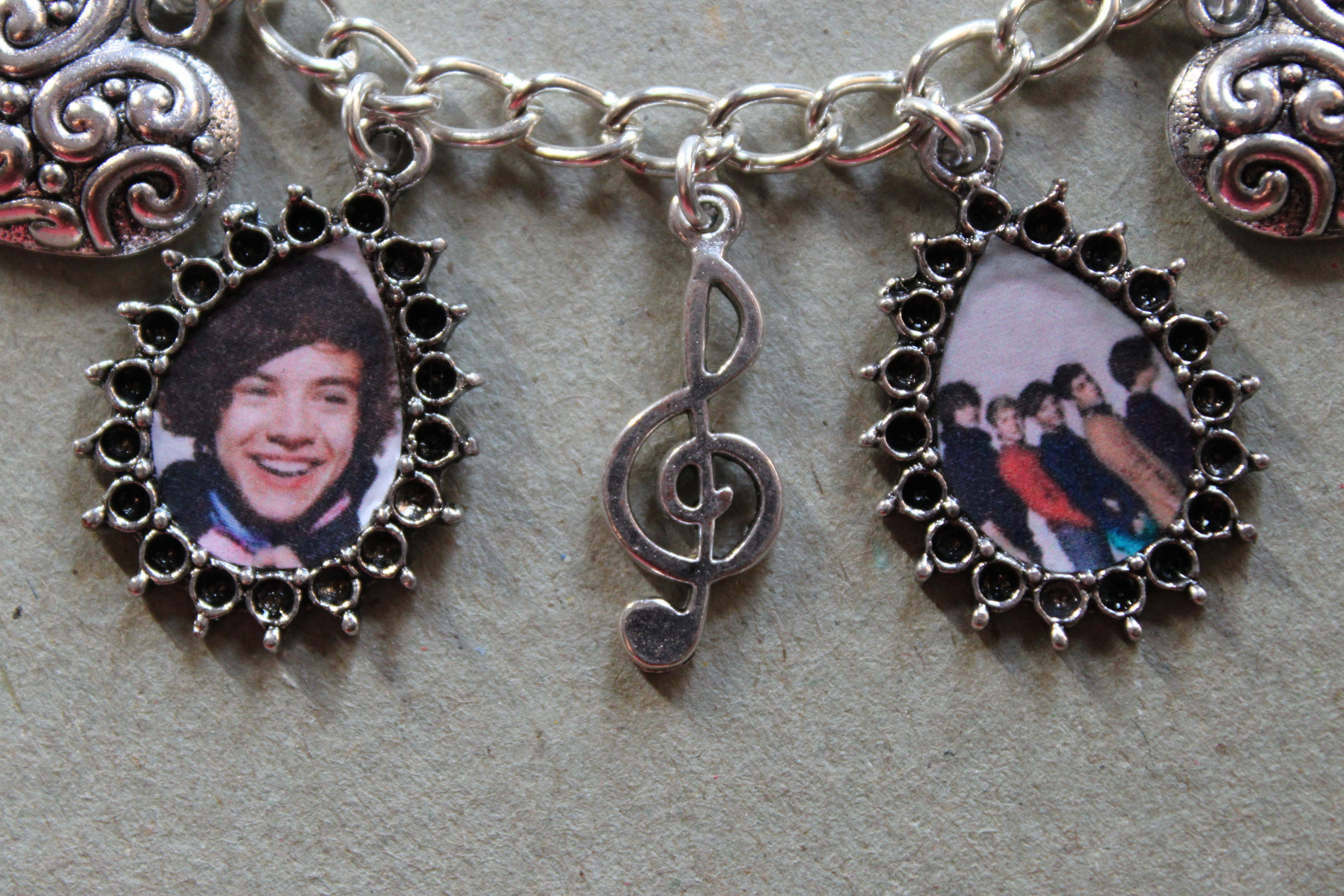 ONE DIRECTION charm bracelet