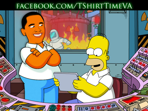 Obama visiting Homer - the-simpsons Photo