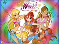 Official fond d'écran Stella,Bloom,Flora Winx cowgirls