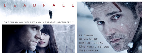 Olivia Wilde in a Promotional Banner for 'Deadfall' (2012)