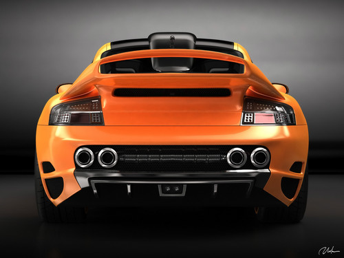 PORSCHE 911 996 top, boven ART CONCEPT DESIGN door BOGDAN URDEA