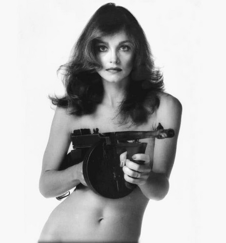Pamela Sue with Gun