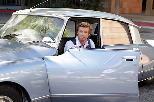 The Mentalist wallpaper probably with an automobile and a sedan called Patrick Jane.