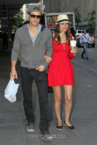 Paul and Torrey getting coffee in NYC (June 1st, 2012)