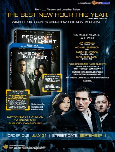 Person of Interest || Season 1 DVD Release - person-of-interest Photo