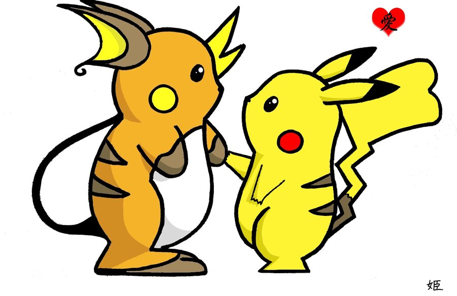 Raichu and pikachu