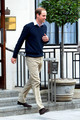 Prince William is seen after visiting Prince Phillip, Duke of Edinburgh, in the hospital in London