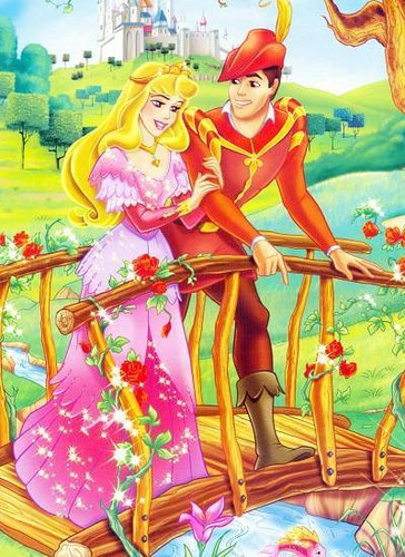 Princess Aurora with Prince Phillip