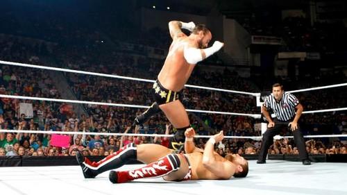 Punk and AJ vs Bryan and kane