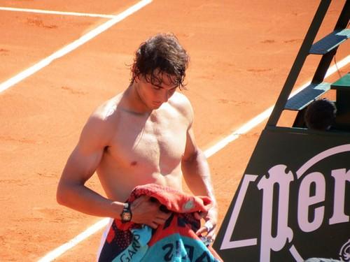 Rafa sexy breast Roland Garros 2012