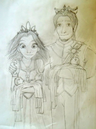 tangled wallpaper called Rapunzel and Eugene's Portrait