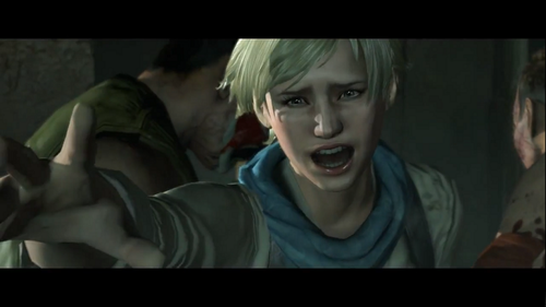sherry Birkin wolpeyper possibly containing a telebisyon receiver entitled Resident Evil 6