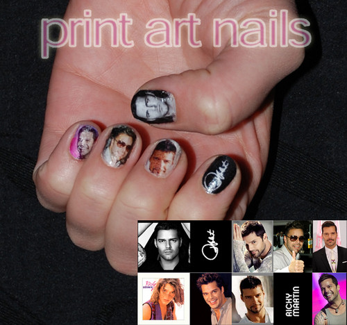 Nails, Nail Art wallpaper titled Ricky Martin