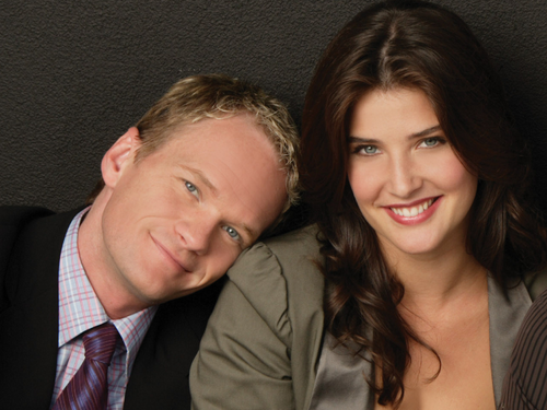 Robin Scherbatsky wallpaper with a business suit titled Robin & Barney
