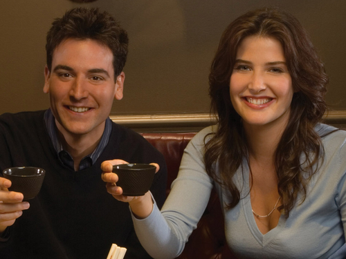 Robin Scherbatsky wallpaper entitled Robin & Ted