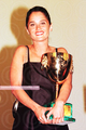 Robin with the Volpi cup she won at Venice Film Festival 1997 for best actress in Niagara Niagara - robin-tunney photo