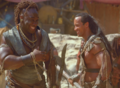 Rock and Duncan having fun - the-scorpion-king photo