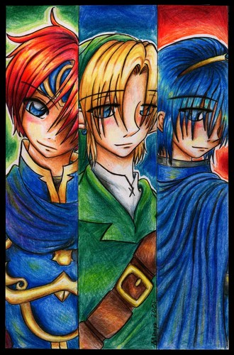 Roy, Link and Marth