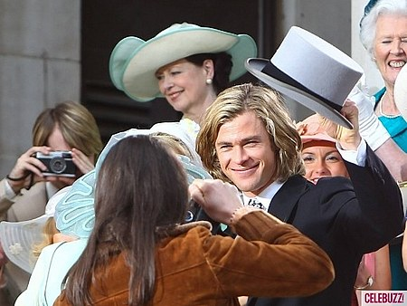 Rush - Chris Hemsworth & Olivia Wilde On Set foto