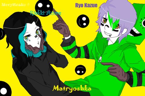 Ryo Kazue and Riekki Azure Matryoshka