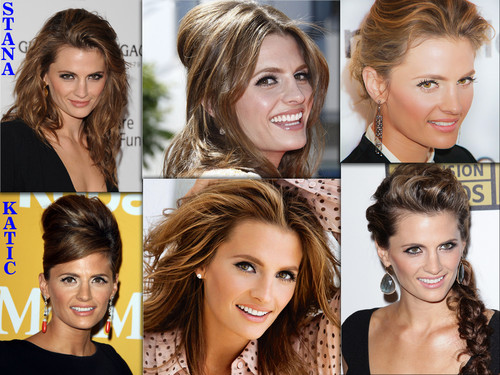 Castle wallpaper with a portrait called STANA KATIC SMILE